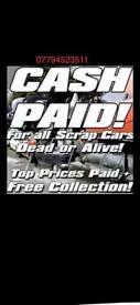 Scrap cars wanted metal wanted 07794523511