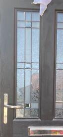 Composite door rock door