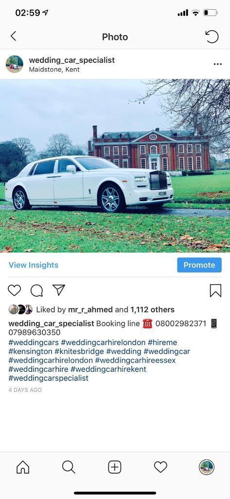 Wedding Car Hire Rolls Royce Phantom Hummer Limo Classic Car In
