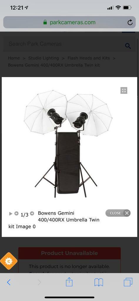 Bowens Gemini 400Rx lighting kit | in Newton Mearns, Glasgow | Gumtree