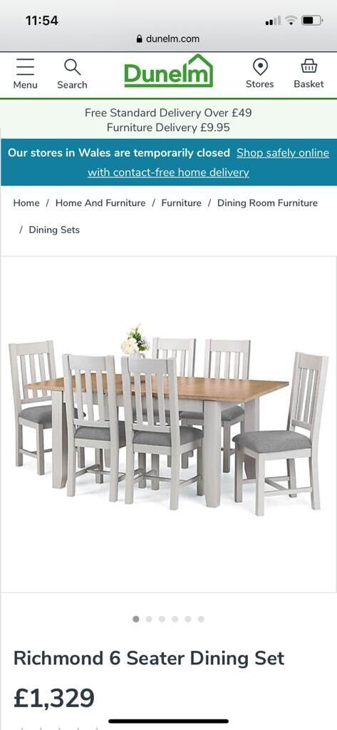 Brand New Dunelm Mill Extendable Dining Table With 4 Matching Chairs In Kimberley Nottinghamshire Gumtree