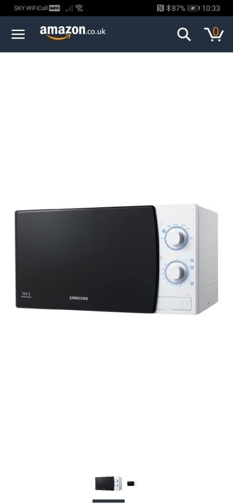 Samsung ME711K Solo Microwave Oven with
