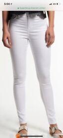 Women's white superdry Sophia skinny jeans