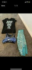 Girls Nike bundles age 8-10 years