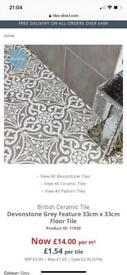 British Ceramic Tile Devonstone Grey Feature