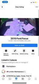 image for Ford, FOCUS, Hatchback, 2010, Manual, 1560 (cc), 5 doors