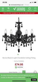 Black Ceiling Light