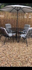 Grey garden furniture set