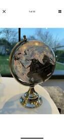 """World Globe Polished / Coloured Style World Map 8"""" nice"""