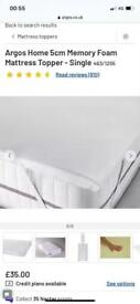 Mattress topper 5cm single bed