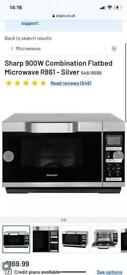 Sharp microwave flatbed oven/grill