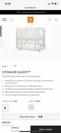 Stokke sleepi cot with NEW mattress