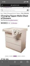 Baby changing unit - topper to convert IKEA drawers