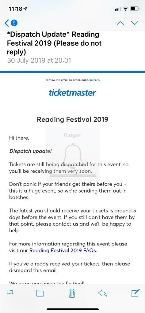 Reading Festival Weekend Pass (early - Thursday) | in Wimbledon, London |  Gumtree