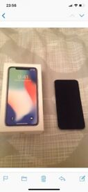 iPhone X silver immaculate condition 64gb
