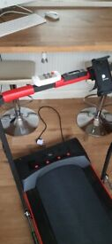 Homcom electric folding treadmill.