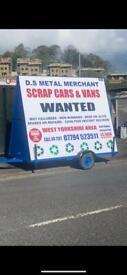 Scrap cars wanted 07794523511 spares or repair none runners mot failed any cars vans