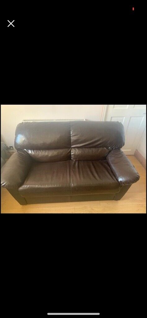 3 Piece Suite Leather good condition | in Kingswood, Bristol | Gumtree