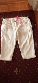 Ladies size 16 white jeans