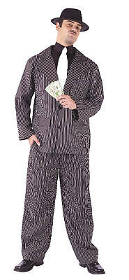 Adult Pinstriped Zoot Suit Gangster Moster Costume ](Pinstripe Suit Costume)