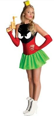 Womens Adult Sexy Marvin The Martian Red Green Costume - Marvin Costume