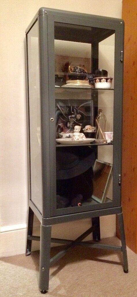 Ikea Fabrikr Glass Door Cabinet Dark Grey In Hove East Sussex
