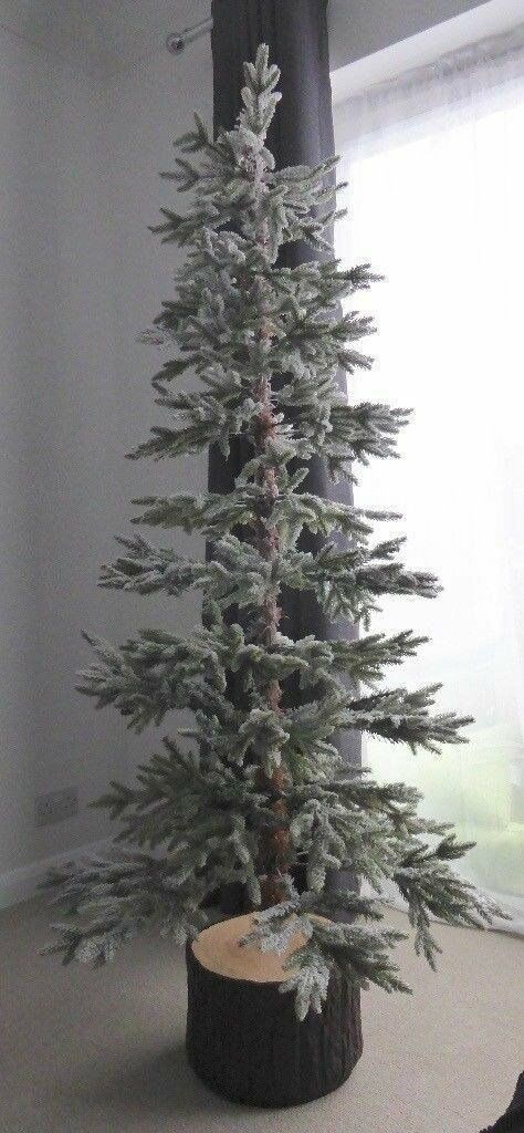 quality design caf4d 14cb7 ALASKAN FLOCKED CHRISTMAS TREE TESCO NEW IN BOX 6FT | in Cardigan,  Ceredigion | Gumtree