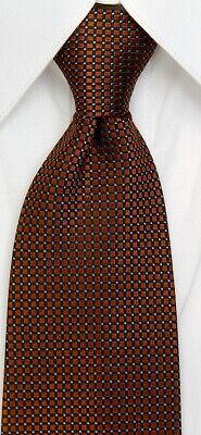 100% SILK ZIPPER NECKTIE TIE WITH LOCK colorful Copper color tie