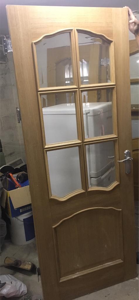 Oak wooden door