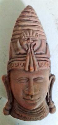 Buddha !  Clay Pottery head Handmade (hollow) 22cms high x 11cms wide