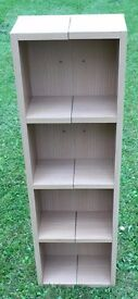 Two partitioned laminated shelves for CDs/DVDs etc - Free to a good home