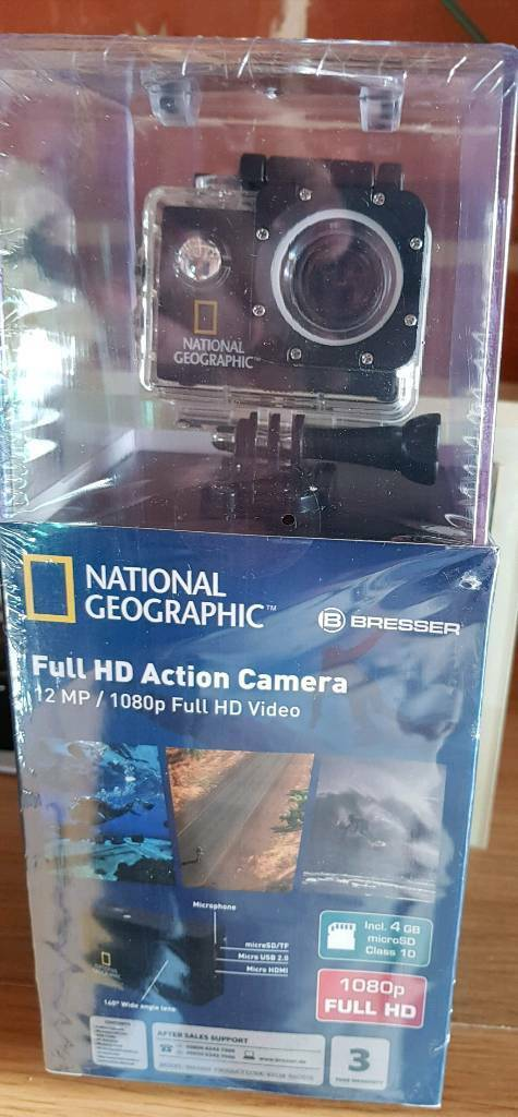National Geographic full HD Action Camera (brand new)