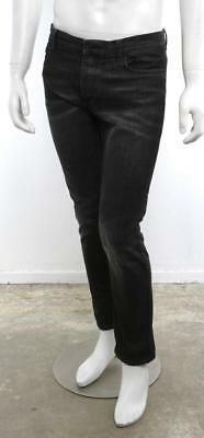 NICOLAS ANDREAS TARALIS Mens JETHRO Black Straight Slim Leg Jeans Pants Denim 31
