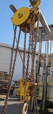 Husky Vintage Reading 1207 10 Ton Multiple Gear Block Manual Chain Hoist Chain