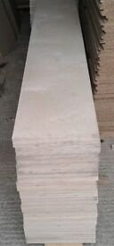 5 Pieces of NEW Top Quality Russian Birch B/BB Grade Plywood 48mm 8ft x 13¾in (2440mm x 350mm)