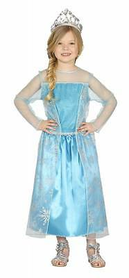 Prinzessin Kostüm Kinder blau Eiskönigin Schneekönigin - Kinder Schnee Prinzessin Kostüm
