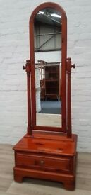 Ducal Rosedale Cheval Mirror (DELIVERY AVAILABLE FOR THIS ITEM OF FURNITURE)
