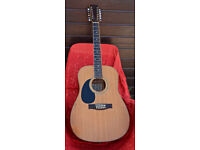 Left Handed Tanglewood 12 string acoustic guitar