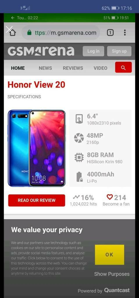 Huawei honor view 20 brand new unlocked with receipt | in Doncaster, South  Yorkshire | Gumtree