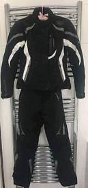 Held Womans motorbike jacket and trousers.