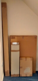 Pagoda-style Single Bed w/ attached Bedside Table - NEW & BOXED