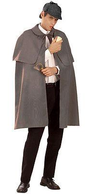 Umhang & Deerstalker Kappe Hut Sherlock Holmes Kostüm (Stalker Kostüm)