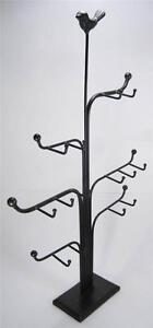 Black-Metal-Jewelry-Tree-Stand-Organizer-and-Display-Holder-21-034-Tall