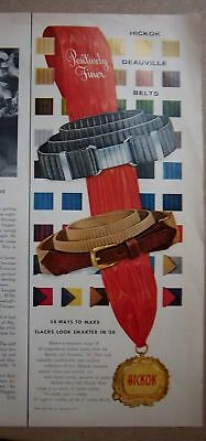 1958 HICKOK Deauville Men's Belts Fashion Color Ad