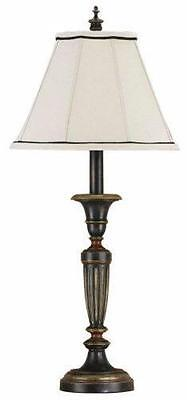 NEW Feiss 9476RW Chandelier Library Rubbed Wood Table Lamp & - Chandelier Library Table