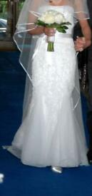 Wedding Dress approximately a UK 10.