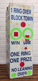 -VINTAGE- PAINTED FUN FAIR GROUND STALL STAND WOODEN GAMES BOARD SIGN PANEL ART
