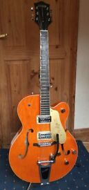 GRETSCH ELECTROMATIC GUITAR WITH TV JONES PICKUP AND WIRING UPGRADE + CASE