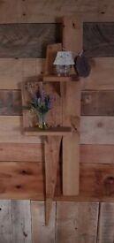Rustic handmade wooden shelf