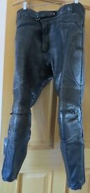 Frank Thomas leather motorcycle trousers size 36 waist